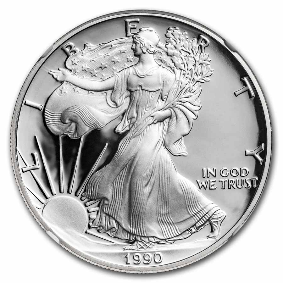 1990-S Proof Silver American Eagle PF-70 NGC
